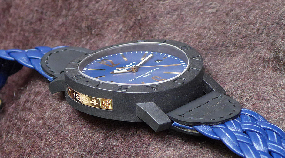 Bvlgari Automatic Brown Dial BLUE Leather Mens Watch 102633 نتيجة بحث الصور  عن Bvlgari Woven blue Leather 4e827d5ce5
