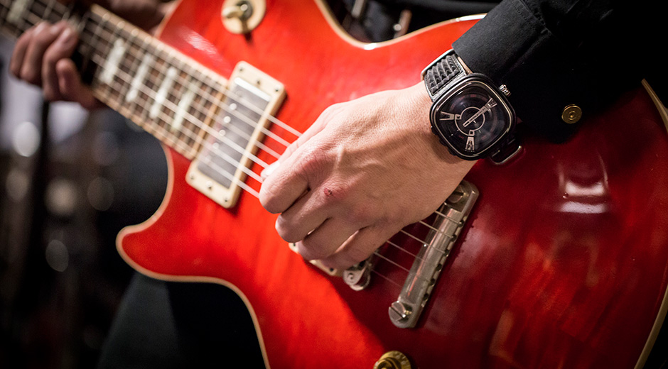 SevenFriday's latest M1 model is a leather-clad Punk Guitar Watch With 47mm Case