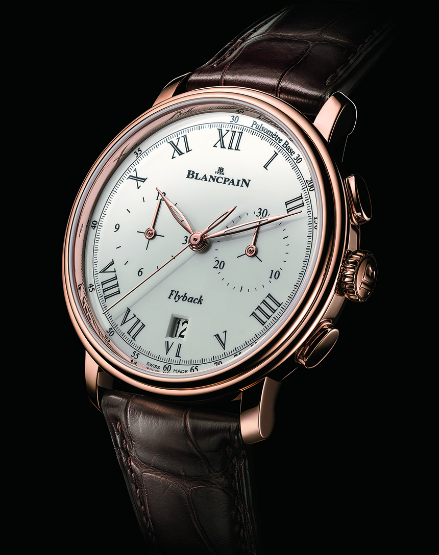 the new blancpain villeret pulsometer flyback chronograph