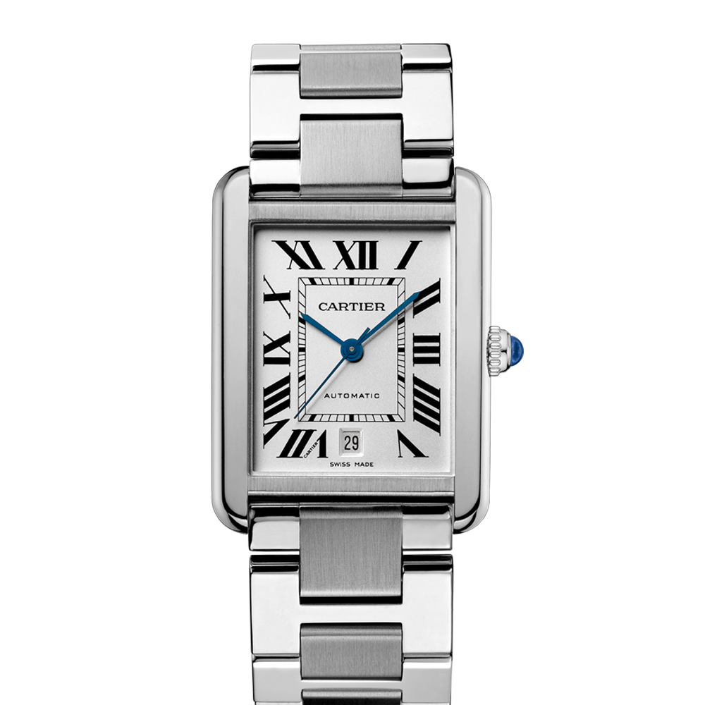 cartier tank solo automatic extra large watch swiss classic watches. Black Bedroom Furniture Sets. Home Design Ideas
