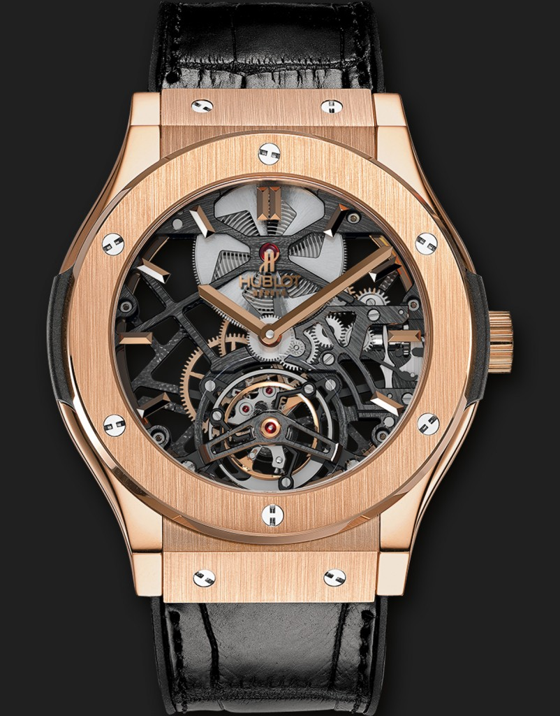 a distinct hublot classic fusion skeleton tourbillon 45mm swiss classic watches
