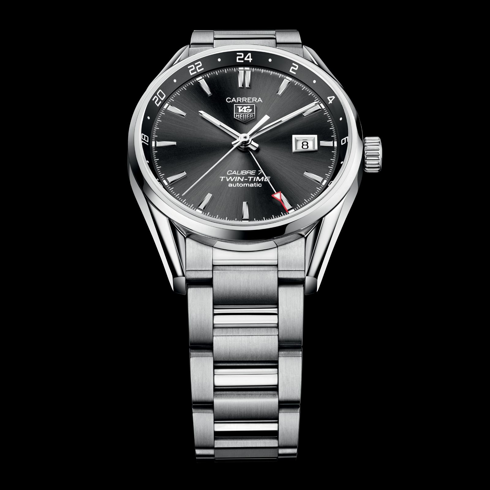 6953e14dd93e TAG Heuer Calibre 7 Twin Time - Swiss Classic Watches