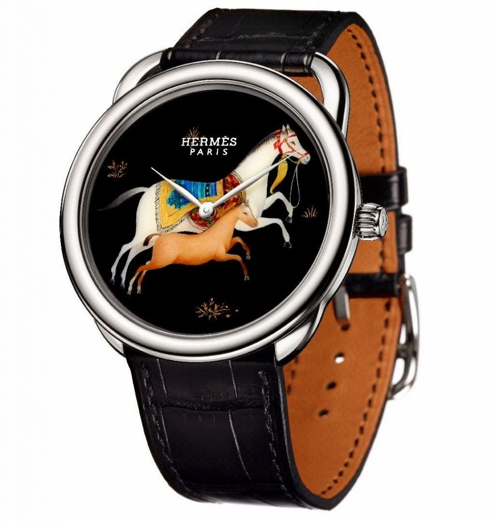 hermes arceau cheval d orient with an aesthetic dial swiss classic watches. Black Bedroom Furniture Sets. Home Design Ideas