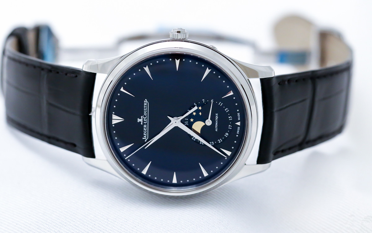 Gents watches jaeger lecoultre master ultra thin moon 39 black dial