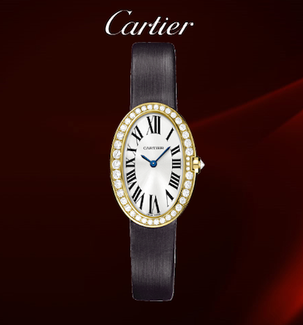 cartier baignoire ladies watch collection the small model. Black Bedroom Furniture Sets. Home Design Ideas
