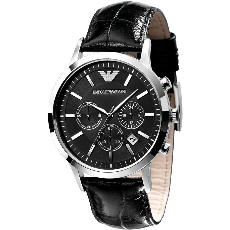 emporio armani classic chronograph mens watch ar2434. Black Bedroom Furniture Sets. Home Design Ideas