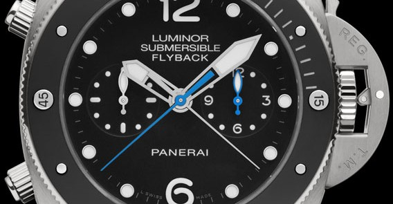 Luminor Submersible 1950 3 Days Chrono Flyback Automatic Titanio with flyback function-47mm
