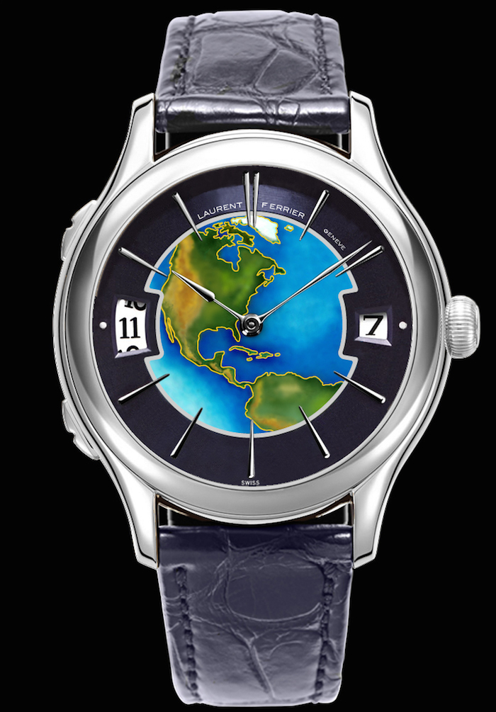 The Laurent Ferrier Galet Traveller World with Cloisonné Enamel dial of the world