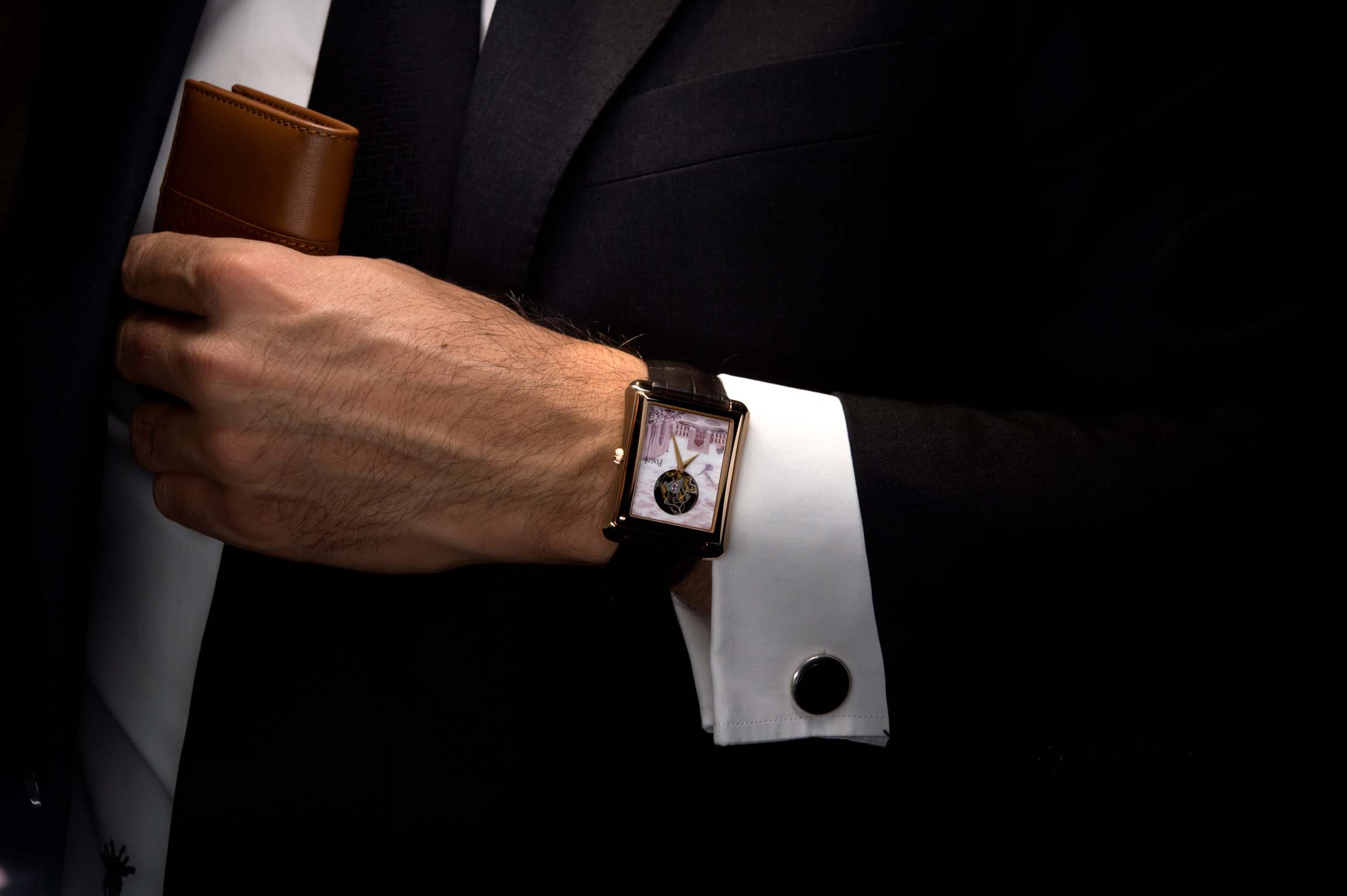 The Piaget Protocole XXL Micro-Mosaic Is A Gentleman's Accessory with an 18-carat red gold