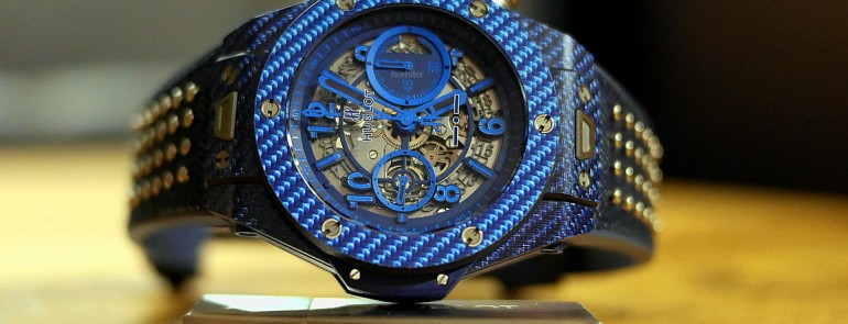 The Hublot Big Bang Unico Italia Independent is truly unique for the blue and gray color styles