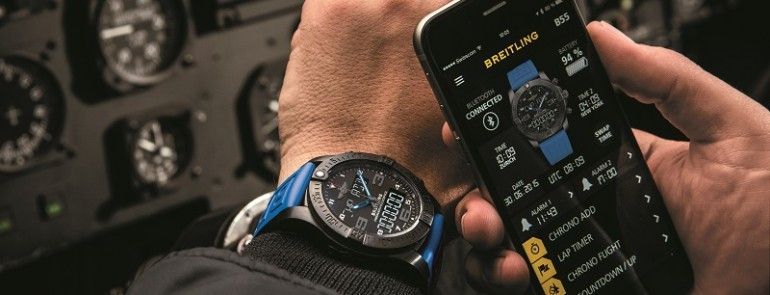 Breitling connects with the Exospace B55 smartwatch communicate with smartphone