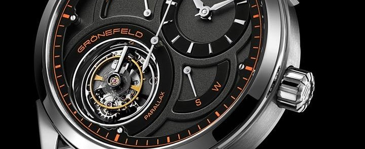 Introduced a unique variant encased in platinum from Gronefeld Parallax Tourbillon Watch