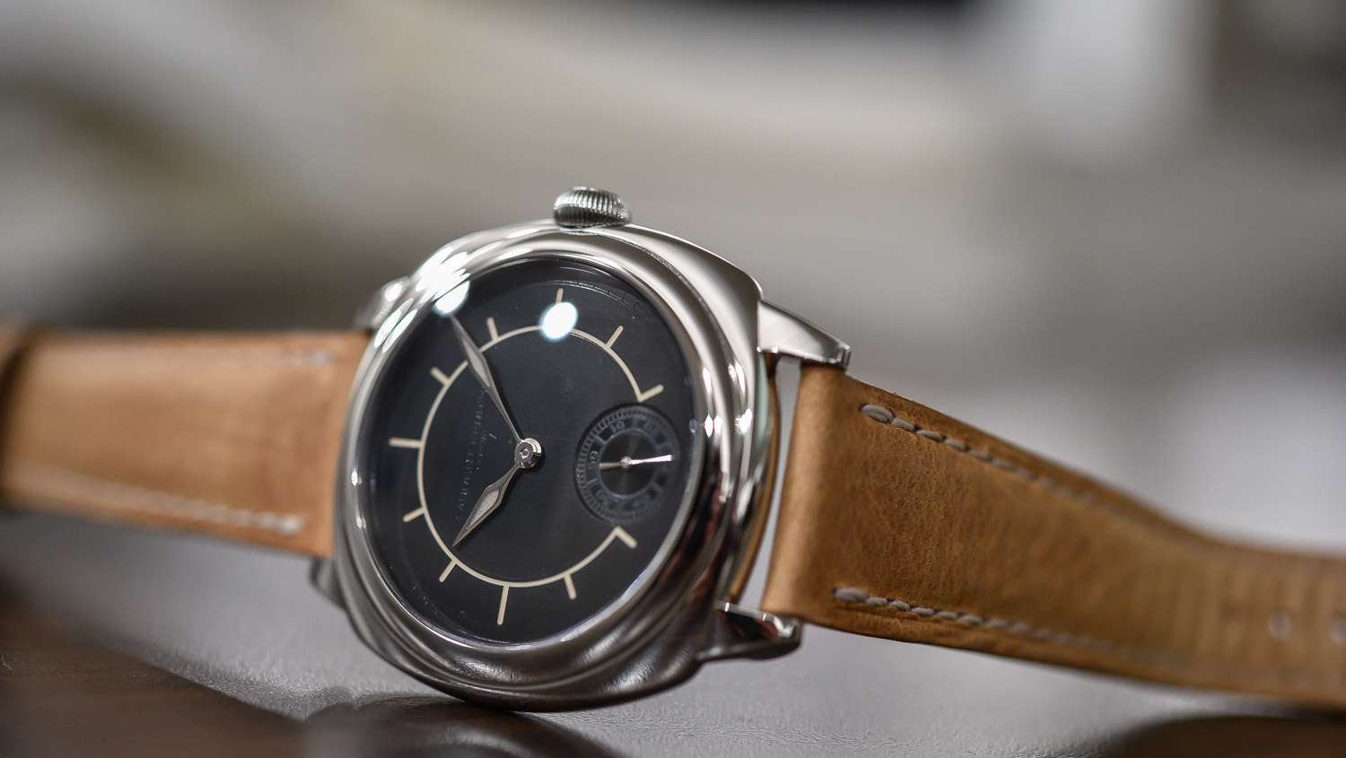 SIHH 2016 – Laurent Ferrier Galet Square Boreal With Superluminova On The Dial