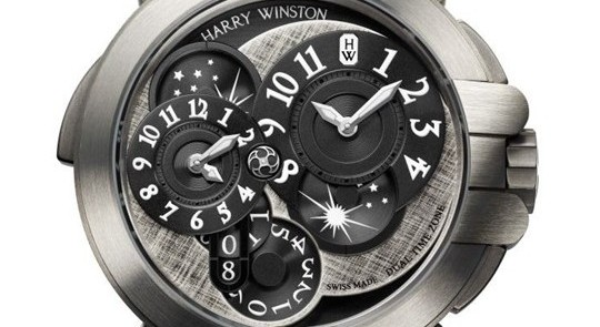 Two Distinct Time Zones: Harry Winston Ocean Dual Time Monochrome For Travel