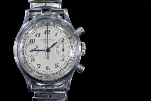 A Very Well And Rare Stainless Steel Patek Philippe Reference 1463 Chronograph
