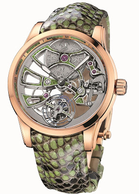 Gorgeous Complexity Timepiece From Royal Python Skeleton Tourbillon