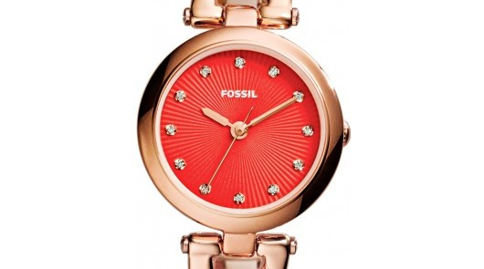 Review Fossil With Pink Stainless Steel Watch