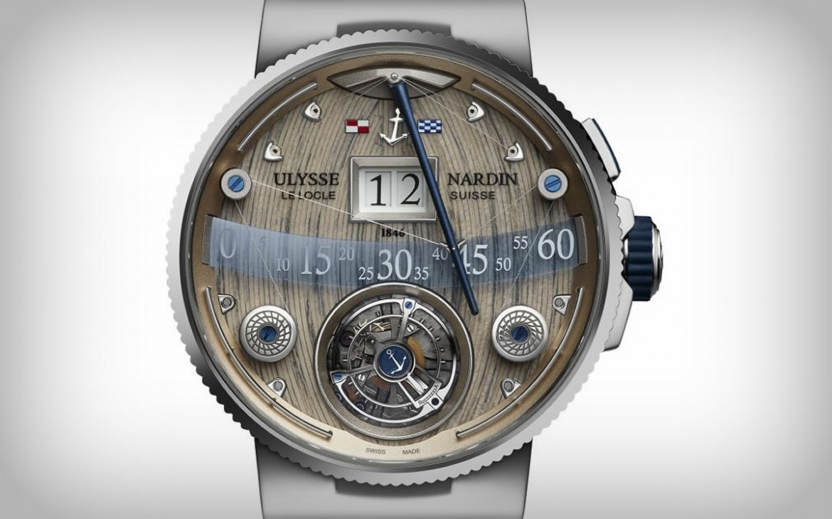The Brand's Most Complicated Chronometer $293k Ulysse Nardin Grand Deck Marine Tourbillion
