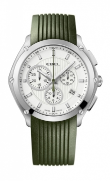 Highlighted With Ebel New Classic Sport Chronograph Watch With Rubber Straps