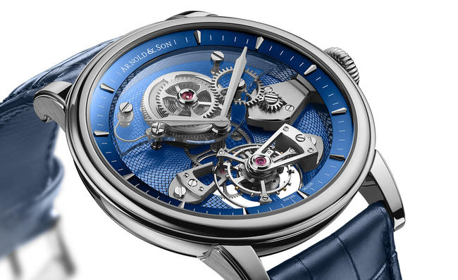 Welcome The Elegant, Special Arnold & Son's new TES Blue Tourbillon
