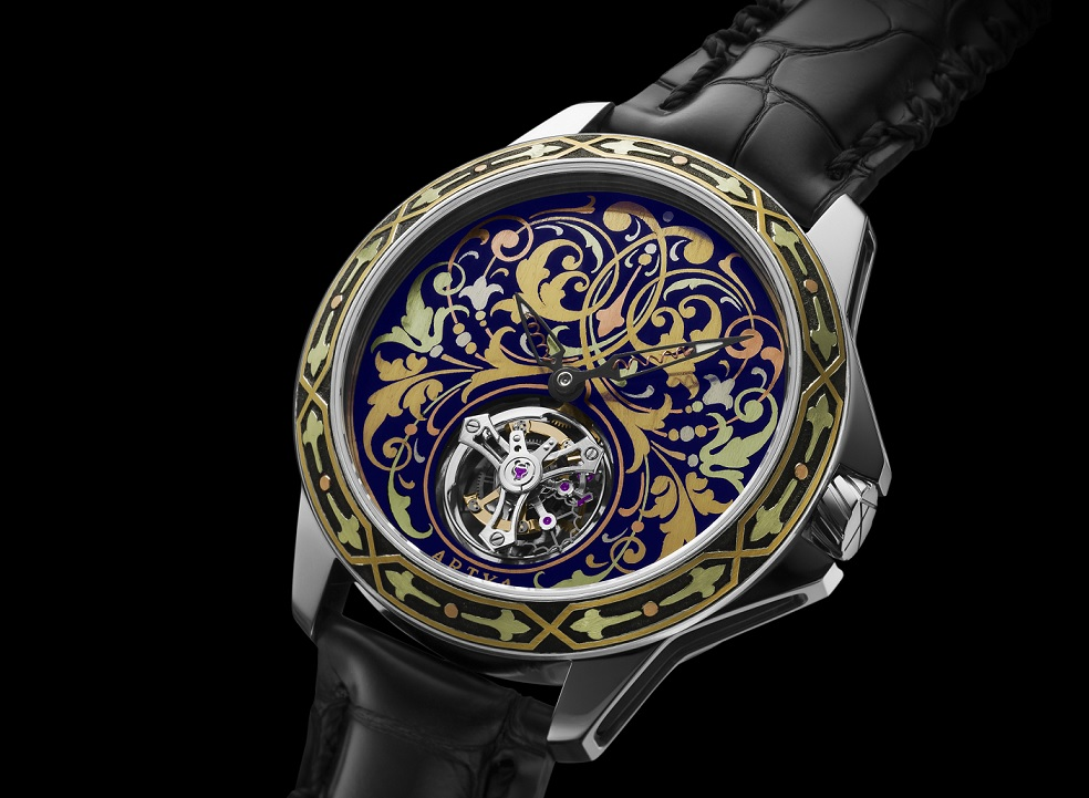 Let's Look At The Fancy ArtyA Gold Marquetry Tourbillon Unique Piece