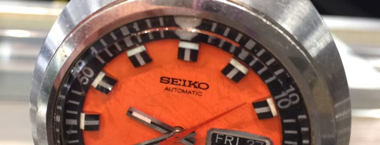 A Luxurious Version Of Grand Seiko With Orange Dial Mens Watch