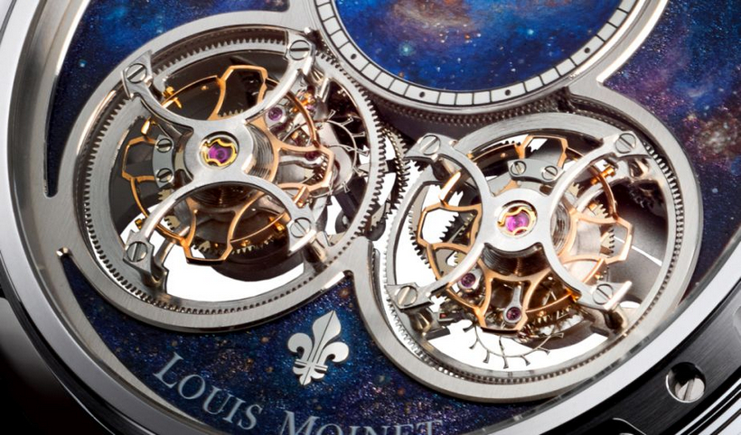 A Luxurious Version Of Louis Moinet Sideralis Inverted Double Tourbillon Watch