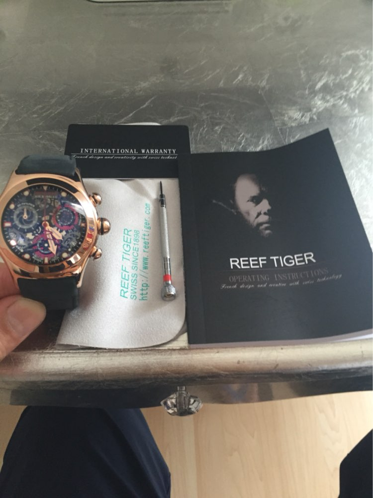 Reef Tiger Big Bang Collection - Mens Squelette Chronographe