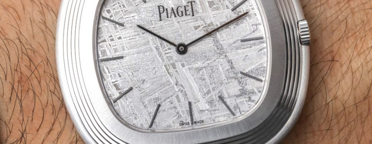 A Elegant Timepiece Of Piaget Vintage Inspiration Meteorite Dial Watch