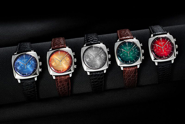 A Luxurious Version Of Glashütte Original Sixties Iconic Square Collection