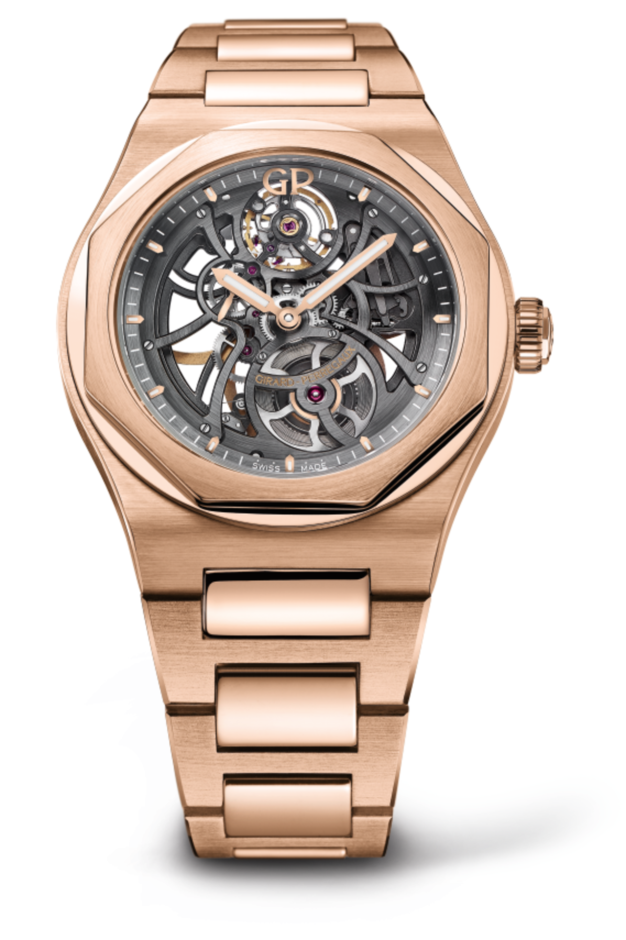 A Luxurious Version Of Girard-Perregaux Laureato Skeleton Watch