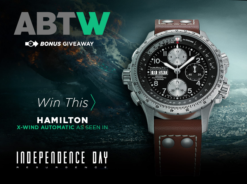 Winner Announced: Hamilton Watches Parts Khaki X-Wind Auto Chrono Watch Giveaway Giveaways